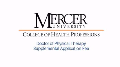 Picture of Supplemental Application Fee -Physical Therapy Program