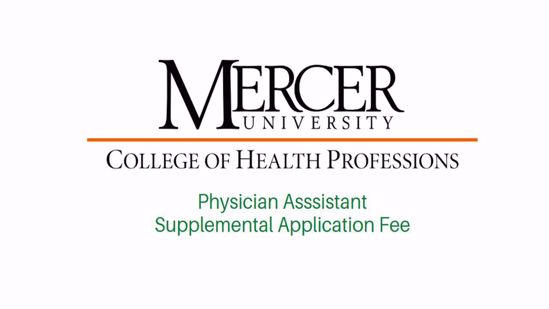 Picture of Supplemental Application Fee -Physician Assistant Program